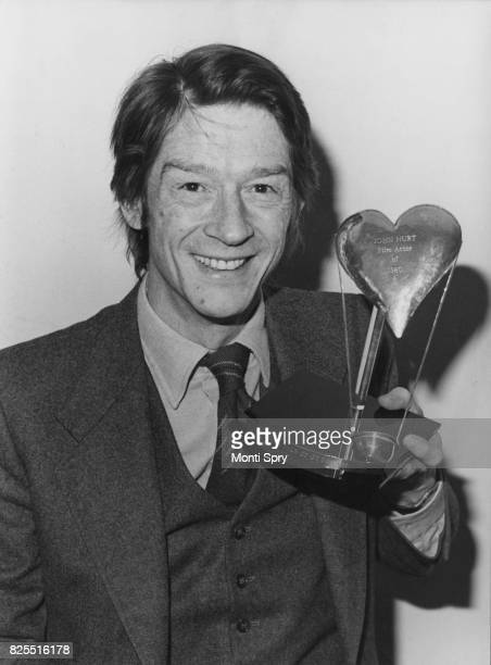 English actor John Hurt is named 'Film Actor of 1980' by the Variety Club of Great Britain in their awards ceremony at the Savoy Hotel London 3rd...