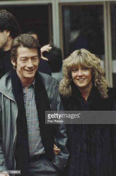 English actor John Hurt with his wife Donna, May 1985.