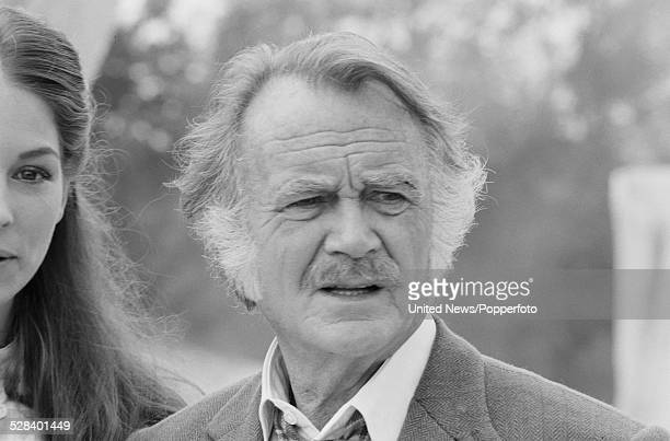 English actor John Mills pictured on set during filming of the science fiction television series Quatermass on 5th September 1978