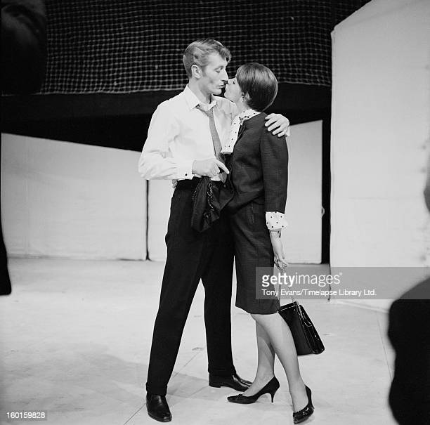English actor John Neville as the title character of the play 'Alfie' by Bill Naughton at the Mermaid Theatre in London, 1963. Actress Glenda Jackson...