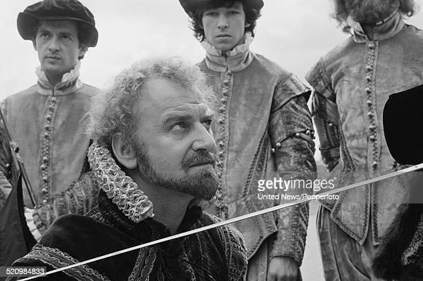 English actor John Thaw pictured dressed in character as Francis Drake on the set of the television film Drake's Venture in Plymouth on 17th June 1980