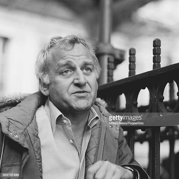 English actor John Thaw pictured wearing a parka style coat in London on 21st April 1982