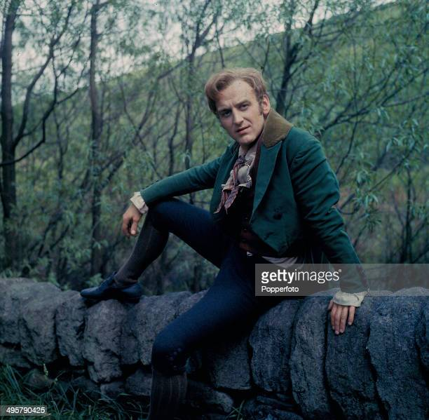 English actor John Thaw pictured wearing period costume on location during filming of the television drama series 'Inheritance' in 1968