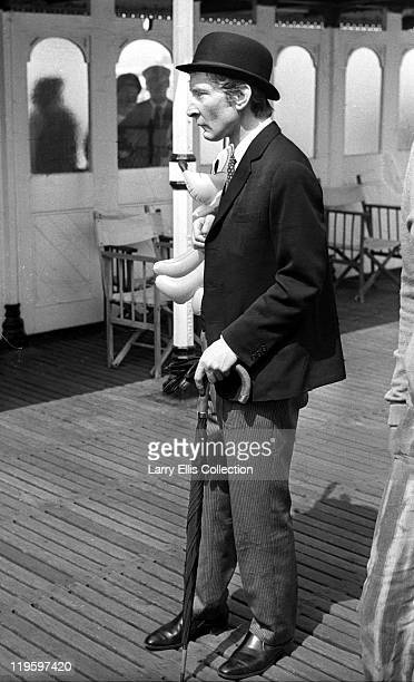 English actor Kenneth Williams on Brighton Pier for the filming of 'Carry On at Your Convenience' Brighton 1971