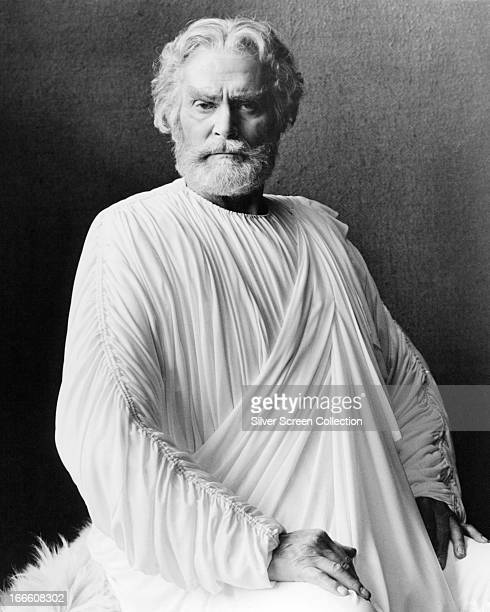 English actor Laurence Olivier as Zeus in 'Clash Of The Titans' directed by Desmond Davis 1981