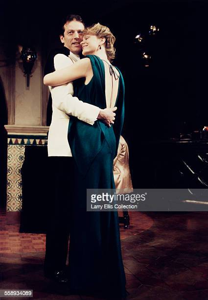 English actor Leslie Grantham stars with actress Shelley Thompson in the stage play 'Rick's Bar Casablanca' London UK circa 1991 Written by Murray...