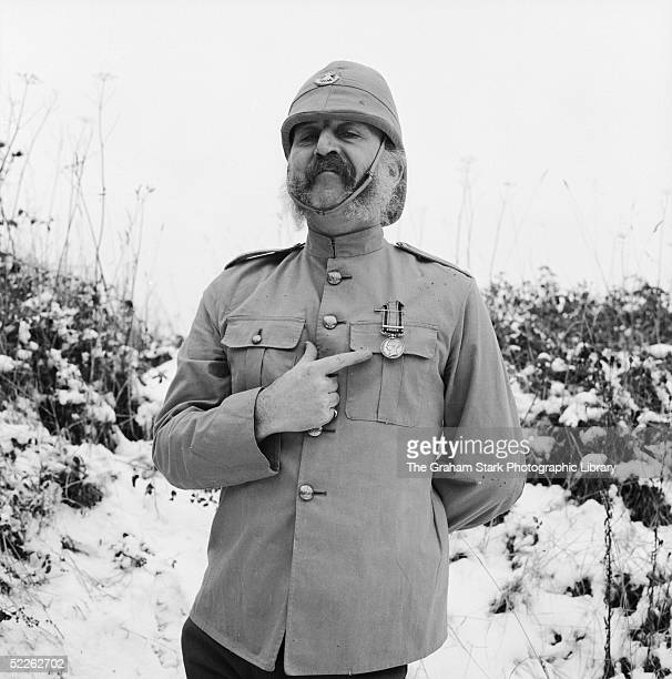 English actor Lionel Jeffries in character and costume as Grandpa Potts during filming of 'Chitty Chitty Bang Bang' directed by Ken Hughes 1968