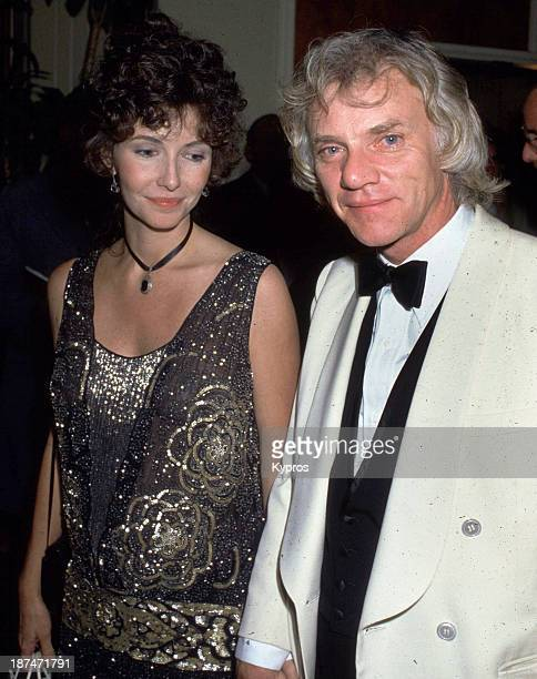 English actor Malcolm McDowell with his wife Mary Steenburgen at the premiere party for 'Blue Thunder' at the Beverly Hilton Hotel in Beverly Hills...