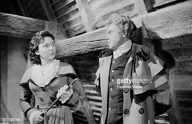 English actor Marius Goring stars as Sir Percy Blakeney in the ITV series 'The Adventures of the Scarlet Pimpernel' at Elstree Studios Hertfordshire...