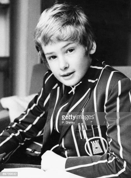 English actor Mark Lester 1970 His most famous role was that of the title character in the musical film 'Oliver'