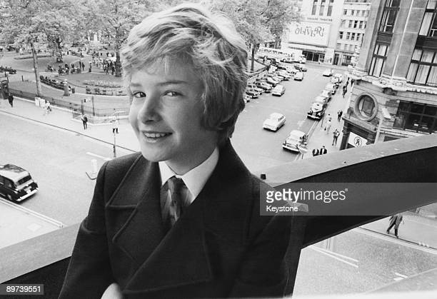 English actor Mark Lester in London's Leicester Square 3rd June 1969 His film 'Run Wild Run Free' is about to be released in London