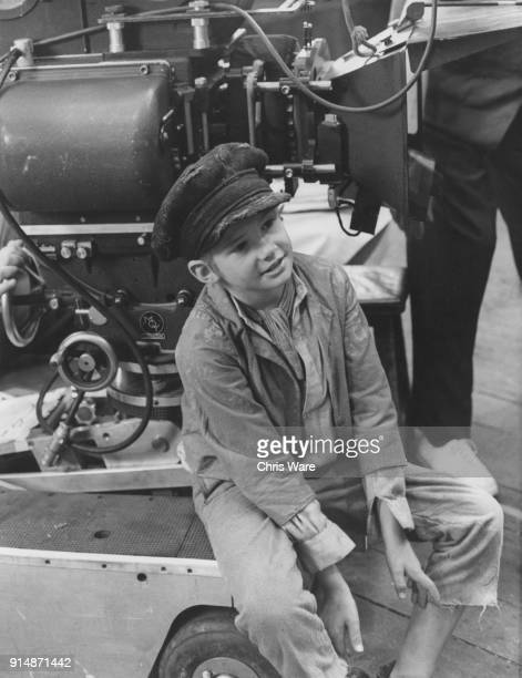 English actor Mark Lester on the set of the musical film version of 'Oliver' in which he plays the title role 1967