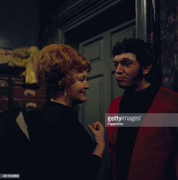 1968 English actor Martin Shaw pictured with actress Patsy Rowlands in an episode from the television drama series 'Public Eye' in 1968