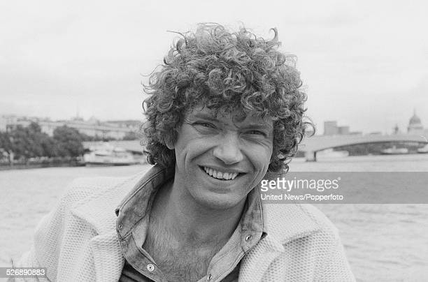 English actor Martin Shaw who plays the character of Raymond Doyle in the television drama series The Professionals pictured by the River Thames in...