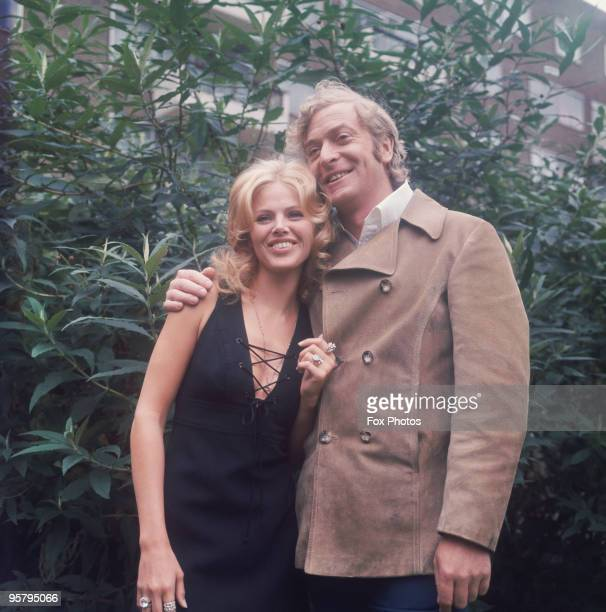 English actor Michael Caine and Swedish actress Britt Ekland who costar in the British gangster thriller 'Get Carter' circa 1971