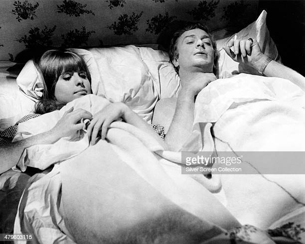 English actor Michael Caine as Alfie Elkins and Jane Asher as Annie in 'Alfie' directed by Lewis Gilbert 1966