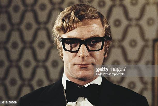 English actor Michael Caine pictured wearing a black bow tie at an arts function in London in November 1970