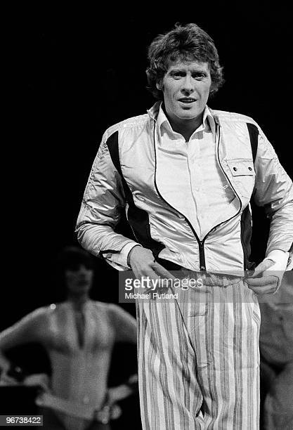English actor Michael Crawford performing the lead role in the musical 'Billy' based on the novel 'Billy Liar' by Keith Waterhouse and Willis Hall at...