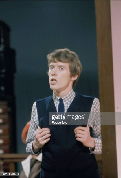 English actor Michael Crawford performs on the television series 'World of Comedy - Innocent but Insane' in 1968.