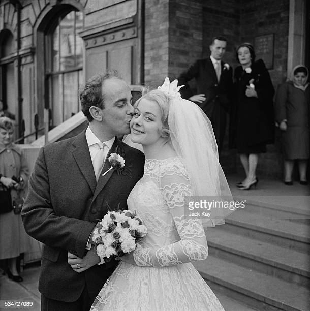 English actor Michael Robbins marries English actress Hal Dyer 5th November 1960