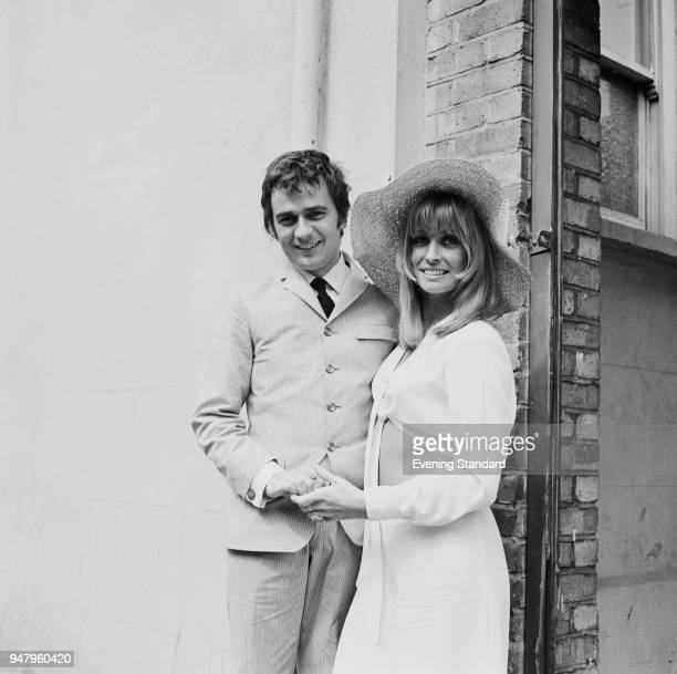 English actor musician and composer Dudley Moore and British actress Suzy Kendall on their wedding day UK 14th June 1968