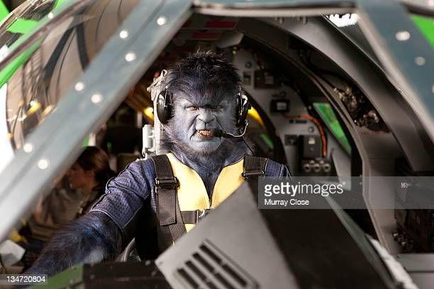 English actor Nicholas Hoult as Hank McCoy, aka Beast in a scene from the film 'X-Men: First Class', 2011.