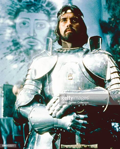 English actor Nigel Terry as King Arthur in the film 'Excalibur' 1981