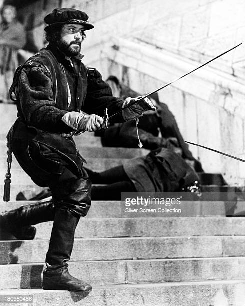 English actor Oliver Reed as Miles Hendon in 'Crossed Swords' , directed by Richard Fleischer, 1977.