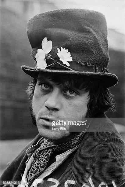 English actor Oliver Reed in costume as Bill Sykes in the film production of the musical 'Oliver!', based on the novel 'Oliver Twist' by Charles...