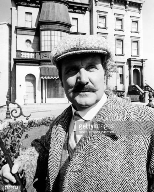 English actor Patrick Macnee as Doctor Watson, in 'Sherlock Holmes In New York', directed by Boris Sagal, 1976.