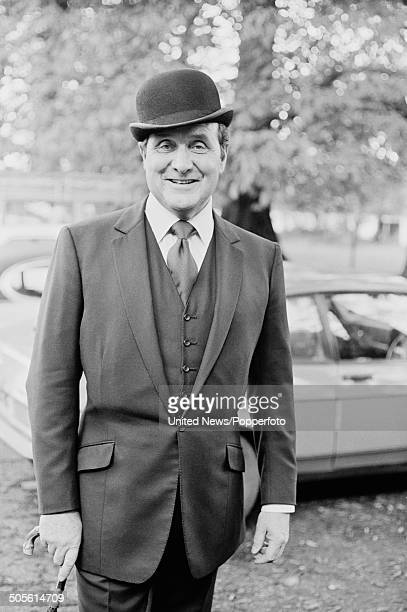 English actor Patrick Macnee posed at a press reception to launch the television series The New Avengers at Pinewood Studios in England on 12th...