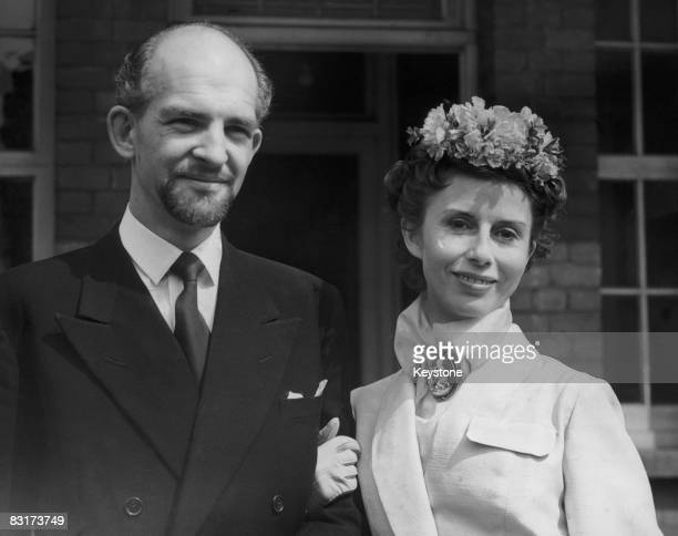 English Actor Peter Copley Marries Actress Ninka Dolega At Hampstead Registry Office 18th April 1953