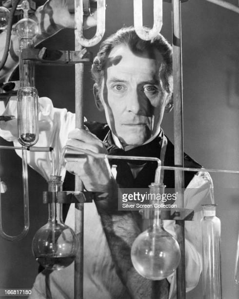 English actor Peter Cushing as Baron Victor Frankenstein in 'Frankenstein Must Be Destroyed' 1969