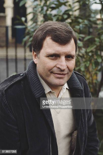 English actor Peter Dean who plays the character Pete Beale in the BBC television soap opera EastEnders posed on the Albert Square set in Elstree...