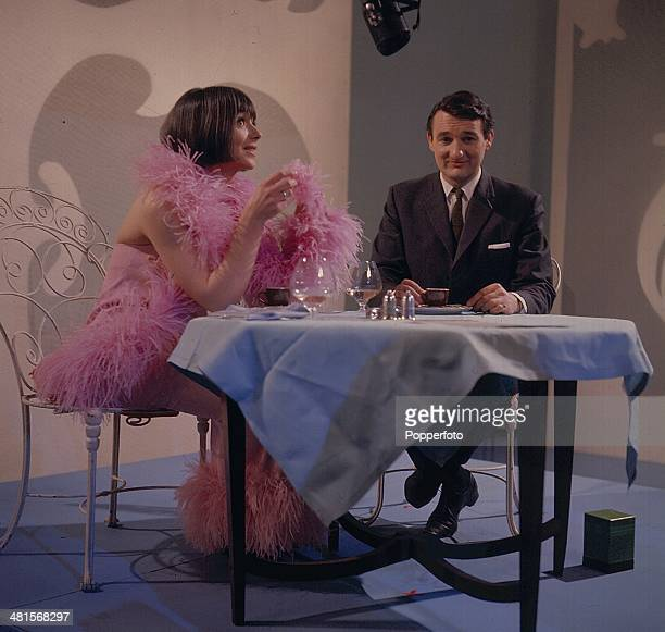 1968 English actor Peter Jeffrey and English actress Jacqueline Pearce pictured in a scene from the television drama 'Upheavals Likely Amongst Near...