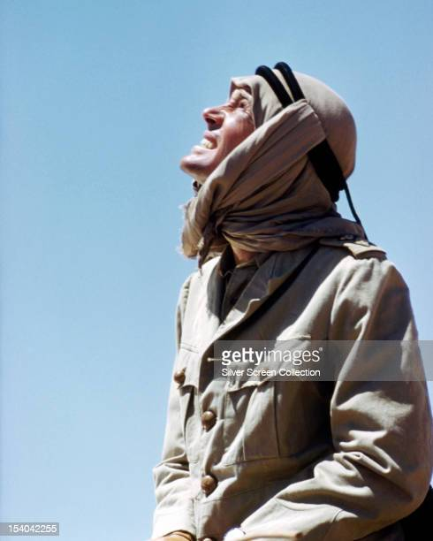 English actor Peter O'Toole as British Army officer T E Lawrence in 'Lawrence Of Arabia', directed by David Lean, 1962.