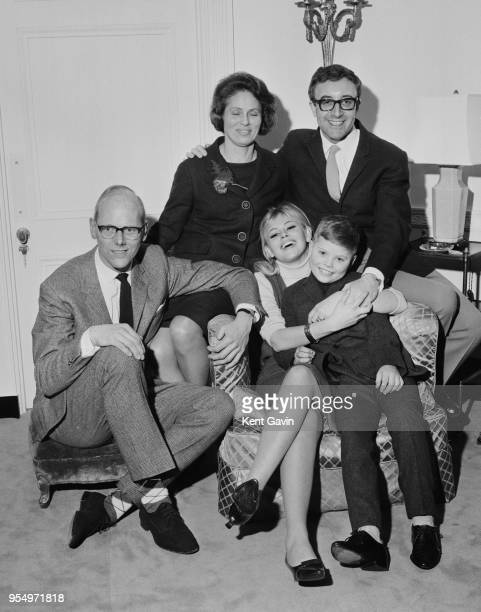English actor Peter Sellers meets the parents of his fiancée, actress Britt Ekland, at the Dorchester Hotel in London, 18th February 1964. Sellers...