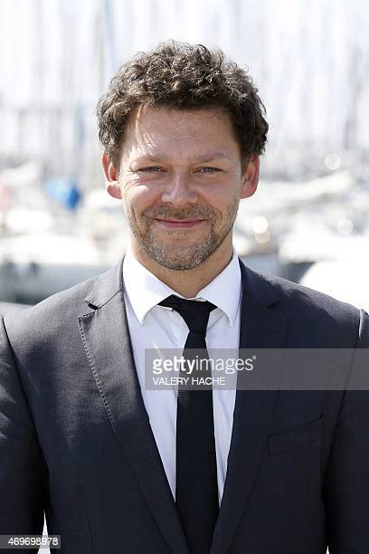 English actor Richard Coyle poses for a photocall for the serie 'AD The bible continues' during the MIPTV on April 14 2015 in Cannes on the French...