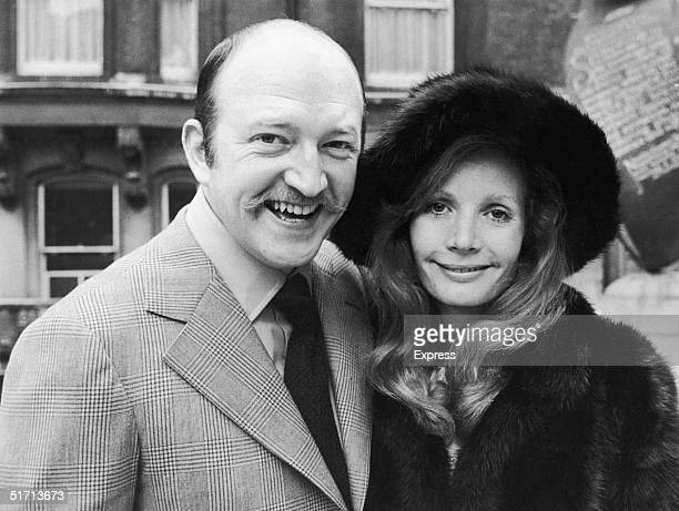 English actor Robert Lang with his actress wife Ann Bell after their wedding at caxton Hall, London, January 1972
