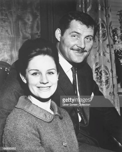 English actor Robert Shaw with his wife Scottish actress Mary Ure circa 1964