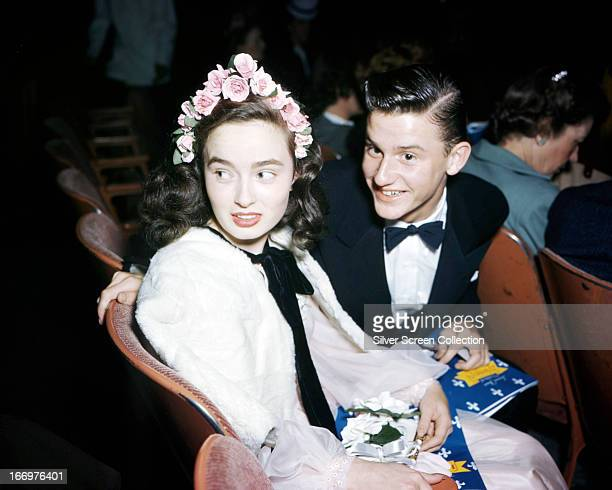 English actor Roddy McDowall with American actress Ann Blyth circa 1950