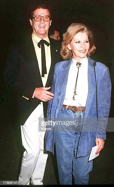 English actor Roger Moore and his wife Luisa circa 1992