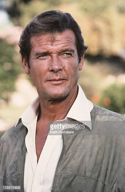 English actor Roger Moore as 007 on the set of the James Bond film 'For Your Eyes Only' March 1981