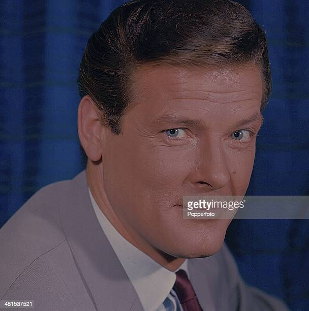 1968 English actor Roger Moore cast as Simon Templar in the television series 'The Saint' posed in 1968