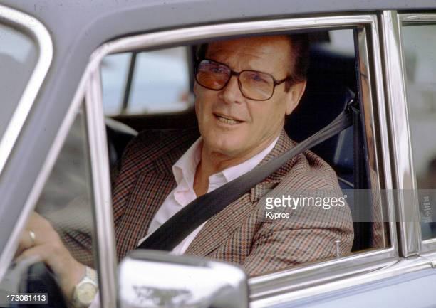 English actor Roger Moore circa 1990
