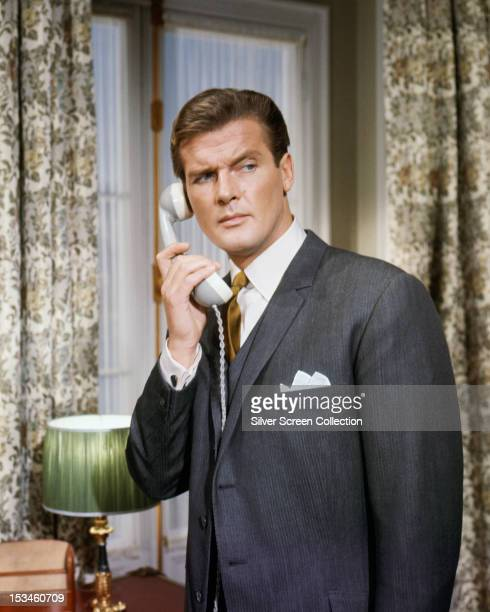 English actor Roger Moore in an episode of the TV series 'The Saint' circa 1963