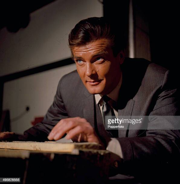English actor Roger Moore pictured playing 'Simon Templar' in a scene from the television series 'The Saint' in 1967