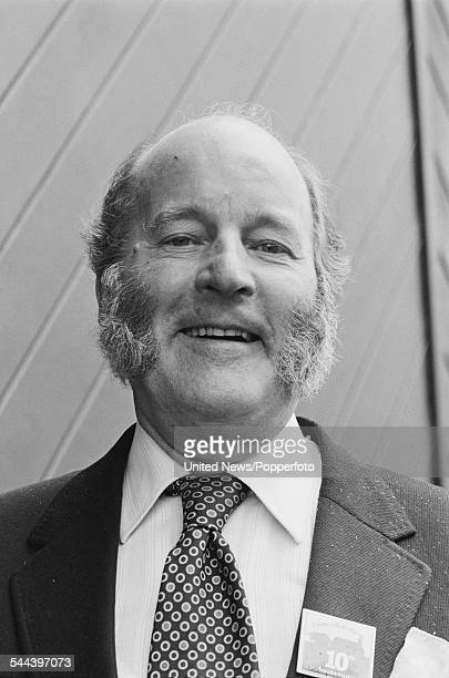 English actor Ronald Magill who plays the character of Amos Brearly in the television soap opera Emmerdale Farm pictured on 11th October 1982
