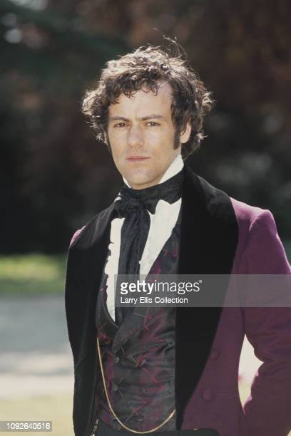 English actor Rupert Graves pictured dressed in period costume for his role as Arthur Huntington in the television adaptation of the Anne Bronte...