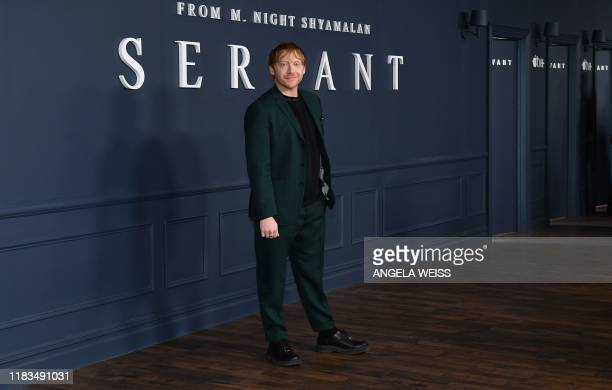 English actor Rupert Grint arrives for Apple TV premiere of Servant at BAM Howard Gilman Opera House in Brooklyn New York on November 19 2019